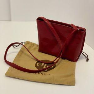 Monsac — Small Red Leather Handbag